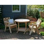 Cedar Country Hearts Bistro Set Natural WRFCHBSETCVD