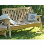 Cedar Countryside Garden Bench Natural 6' WF6EGBCVD