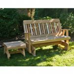 Cedar Countryside Rocking Glider & Table Set Natural WRF5SEGSETCVD