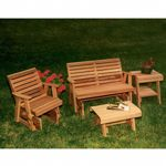 Cedar Rocking Classic Gliders & Tables Set Natural WRF3230SETCVD