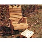 Cedar Royal Country Hearts Patio Chair Natural