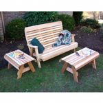 Cedar Twin Ponds Bench Set Natural WRF1110SETCVD