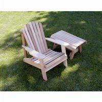 Cedar American Forest Adirondack Chair & Table Set Natural WRF5200SETCVD