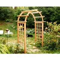 "Cedar Arched Arbor Natural - 48"" Opening EY48ARCVD"