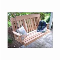 Cedar Classic Porch Swing 4' Natural WF4CSBSCVD