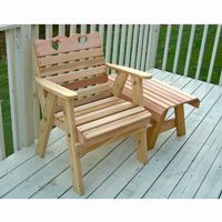 Cedar Country Hearts Patio Chair Natural WF4130CVD