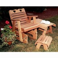 Cedar Country Hearts Rocking Glider Chair Natural WF4230CVD