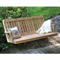 Cedar Countryside Porch Swing Natural 4' WF4SEGSCVD