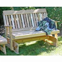 Cedar Countryside Rocking Glider Natural 5' WF5SEGCVD