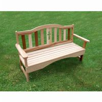 Cedar Holy Cross Garden Bench Natural 4' WF8004CVD