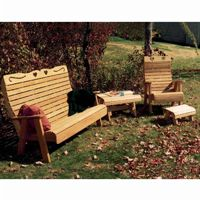 Cedar Royal Country Hearts Patio Group Natural WRF1126CHGRPCVD