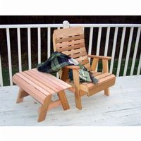Cedar Twin Ponds Chair & Table Set Natural WRF1130SETCVD