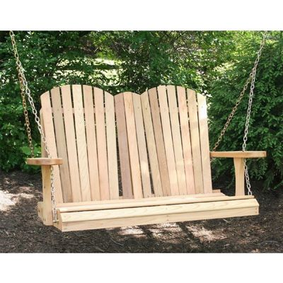 Cedar Adirondack Chair Style Porch Swing Natural WF9009CVD