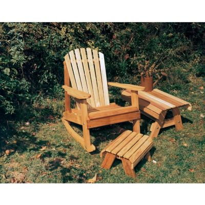 Cedar American Forest Adirondack Rocker Collection Natural WRFKEYRCOLLCVD