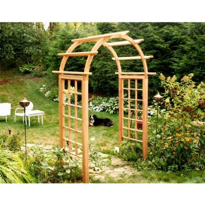 "Cedar Arched Arbor Natural - 54"" Opening EY54ARCVD"
