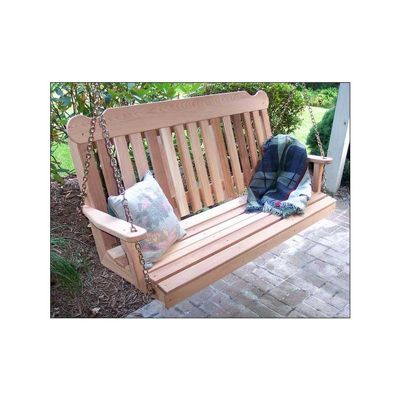 Cedar Classic Porch Swing 6' Natural WF6CSBSCVD