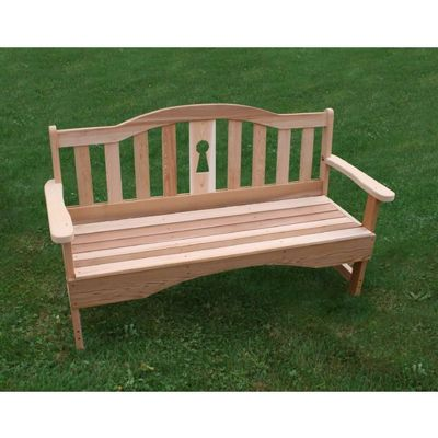 Cedar Keyway Garden Bench Natural 4' WF8104CVD