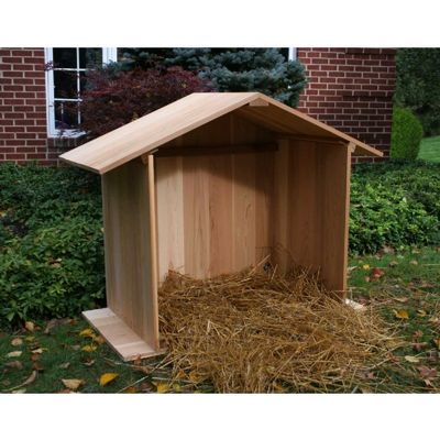 Cedar Manger with Finished Back Natural 4' WRF4MNGRFBKCVD