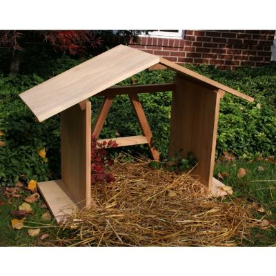 Cedar Manger with Open Back Natural 3' WRF3MNGROBKCVD