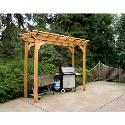 Cedar New Dawn Pergola Natural 3' x 8' WRF38PERGCVD