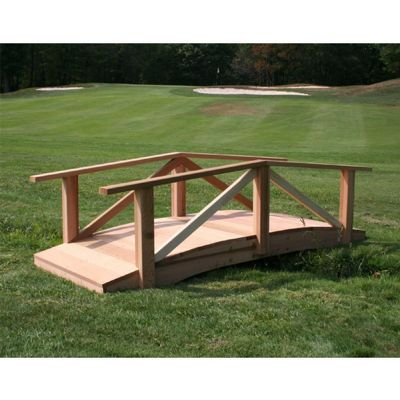 Cedar Pearl River Garden Bridge Natural 4' WF1704CVD