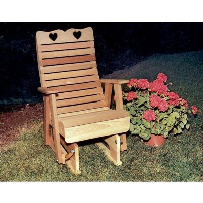 Cedar Royal Country Hearts Glider Chair WF1235CVD