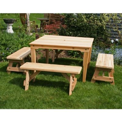 Cedar Social Dining Set Natural WRFSTDSCVD