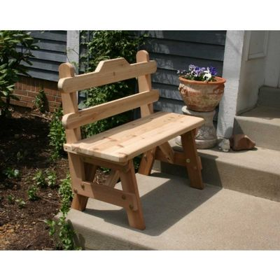 Cedar Tab Back Bench Natural 4' WRF4TBGBCVD