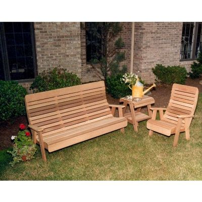 Cedar Twin Ponds Bench & Chair Collectiont Natural WRF1120COLCVD