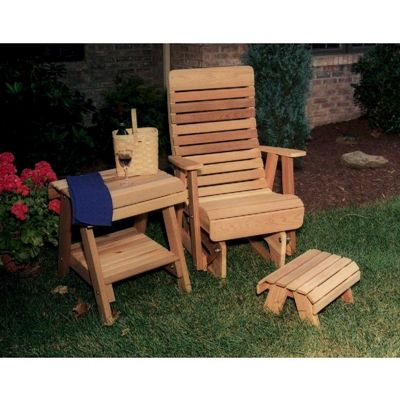 Cedar Twin Ponds Rocking Glider Chair Set Natural WRF1230SETCVD