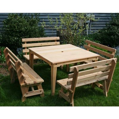 Cedar Union Dining Set Natural WRF47UDSCVD