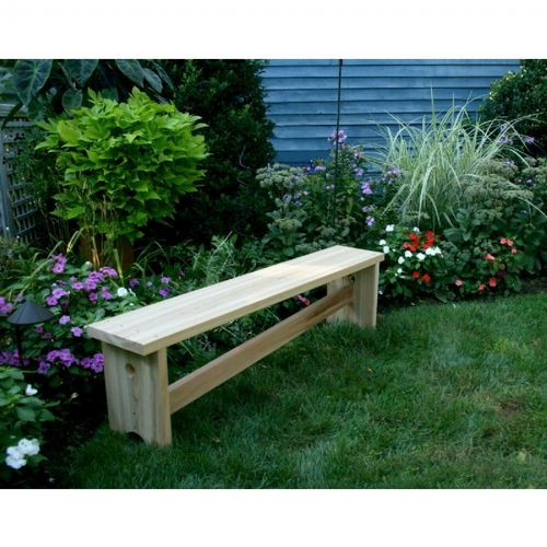 Cedar 1800 Traditional Bench w/ Slant Brace Natural 5' WRF18005BCHCVD