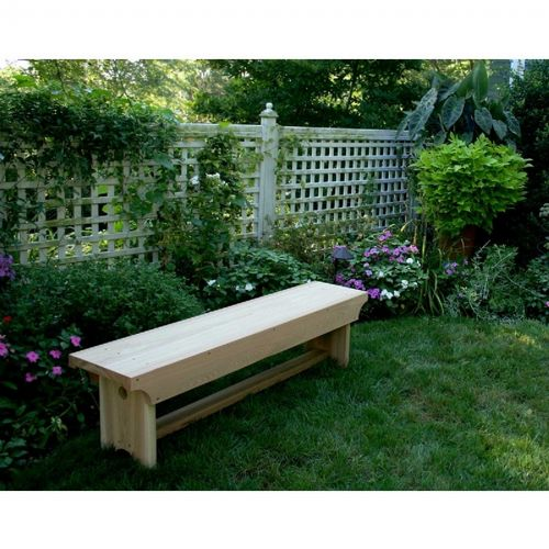 Cedar 1805 Traditional Heavy Duty Bench Natural 5' WRF1805HD5BCHCVD