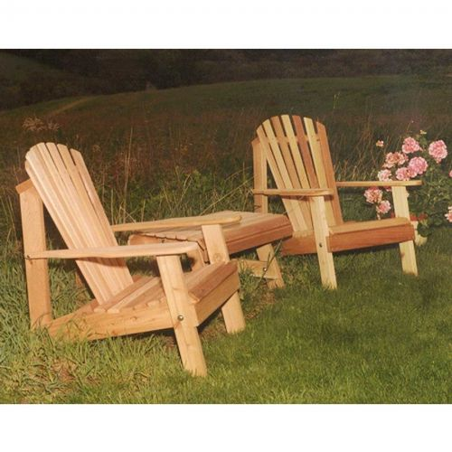 Cedar American Forest Adirondack Chair Collection Natural WRF5202CVD