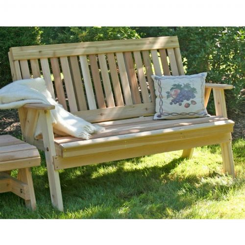 Surprising Cedar Countryside Garden Bench Natural 6 Bralicious Painted Fabric Chair Ideas Braliciousco