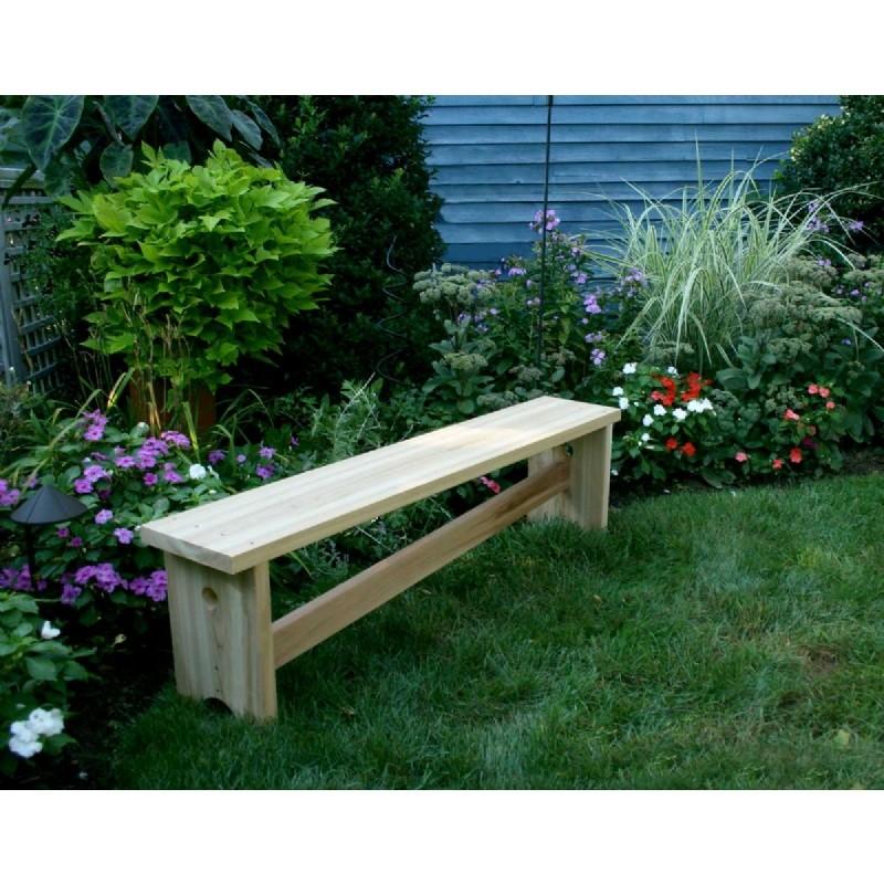 Cedar 1800 Traditional Bench W Slant Brace Natural 5 39