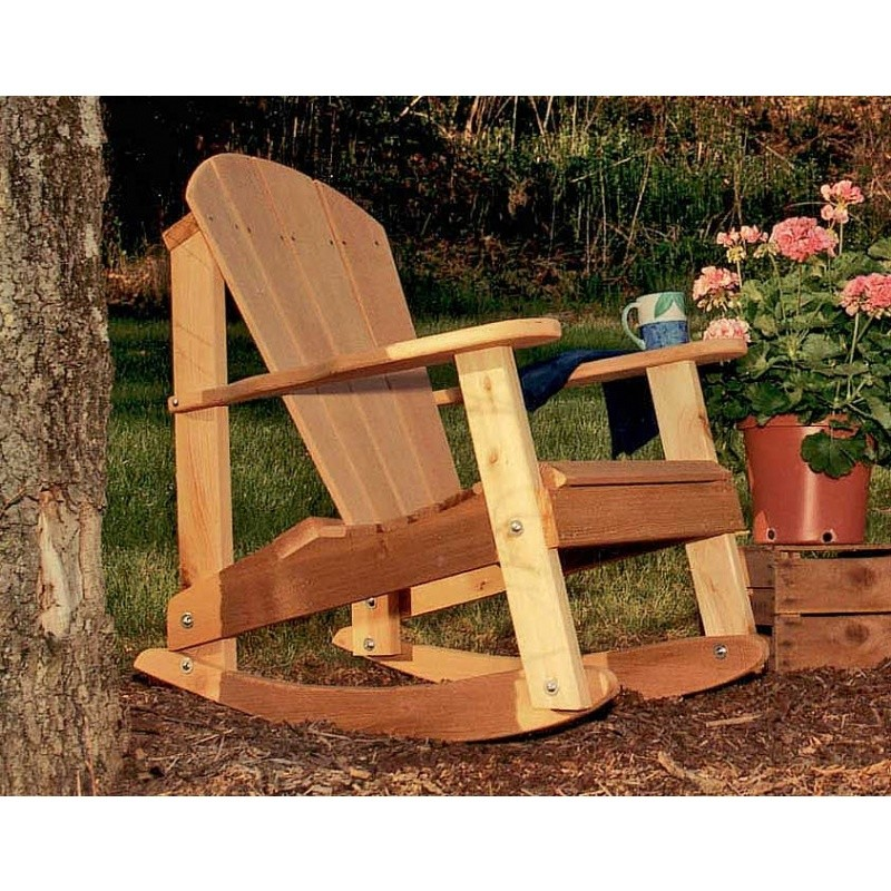 Cedar Adirondack Rocking Chair Natural