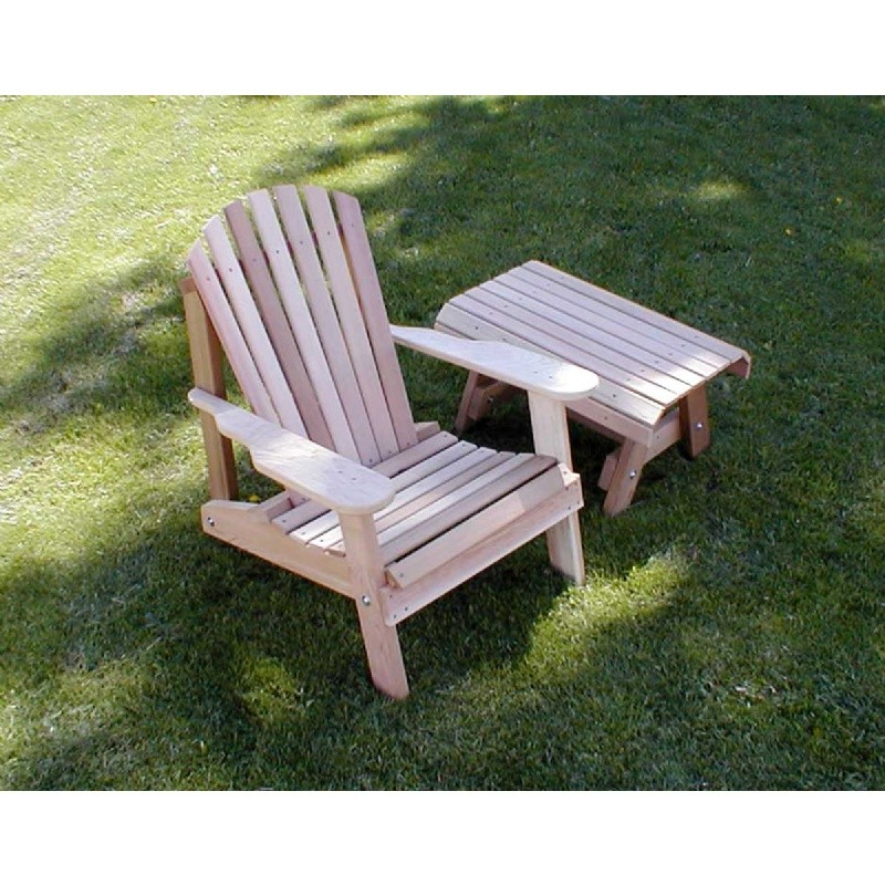 Cedar American Forest Adirondack Chair & Table Set Natural