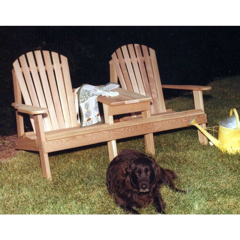 Cedar American Forest Adirondack Settee Natural