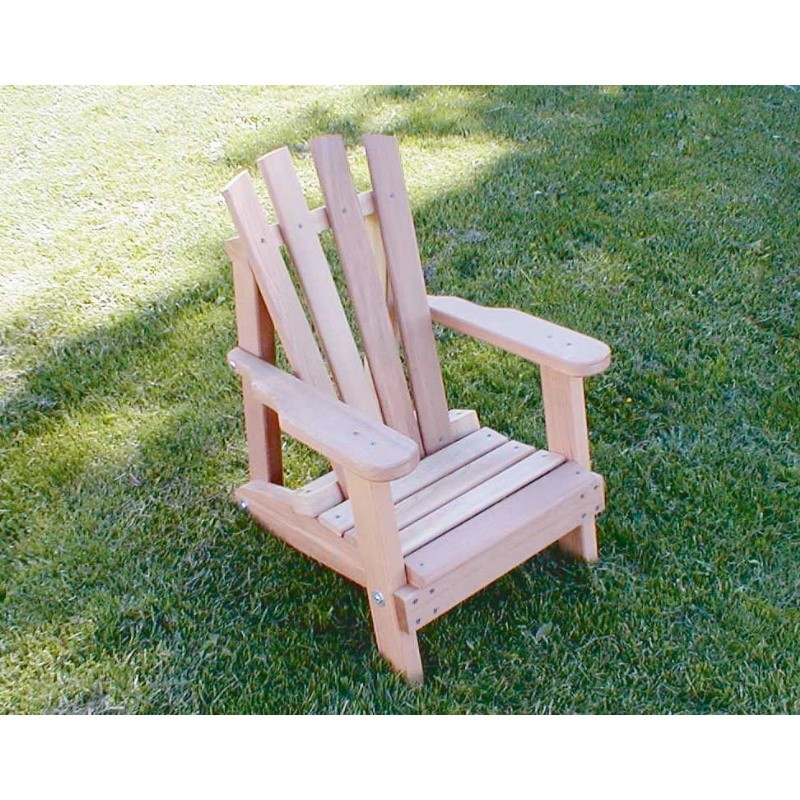 Cedar Child Size Wide Slat Adirondack Chair Natural