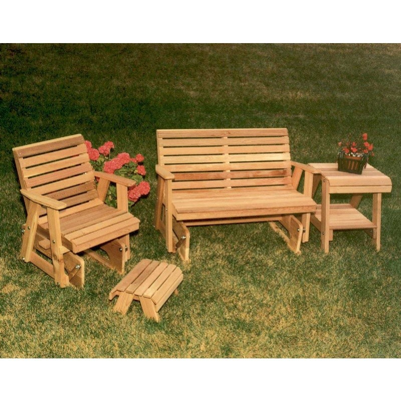 Cedar Classic Rocking Glider Furniture Collection Natural