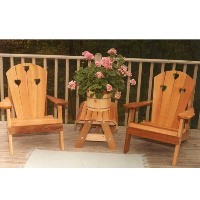 Cedar Country Hearts Adirondack Chair Collection Natural : Adirondack Chairs