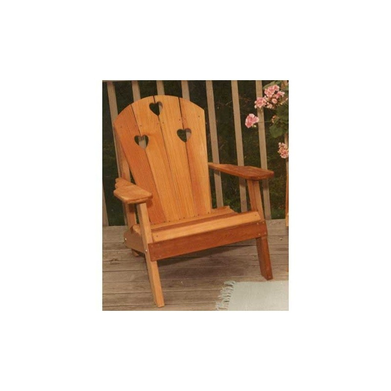 Cedar Country Hearts Adirondack Chair Natural : Adirondack Chairs