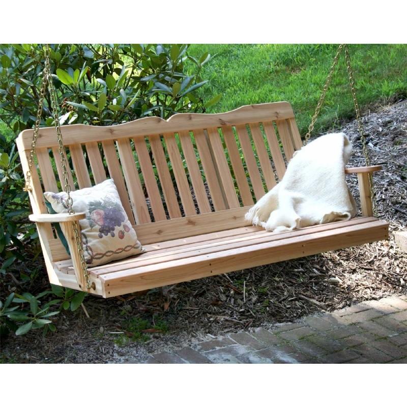 Cedar Countryside Porch Swing Natural 2 39