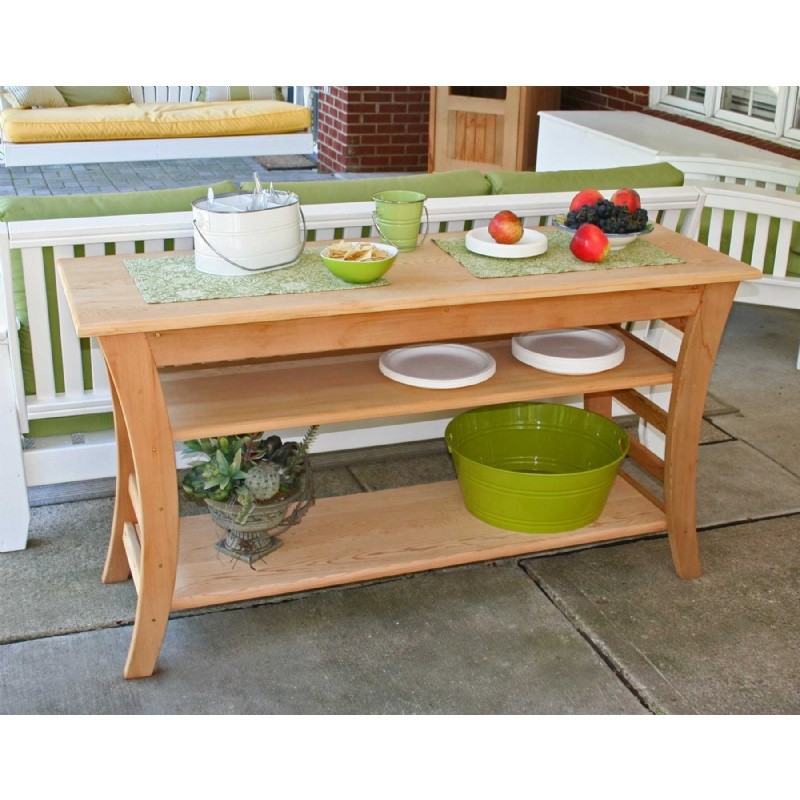 Outdoor Furniture: Wood: Cedar Entertaining Buffet Table Natural 48""