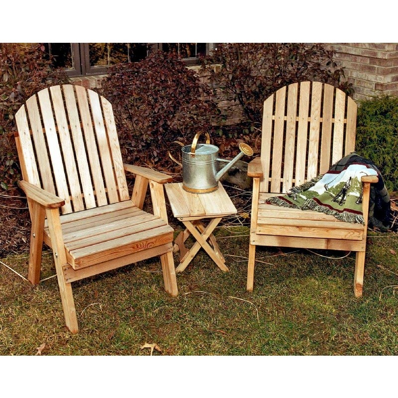 Outdoor Furniture: Wood: Cedar Fanback Patio Chair Natural