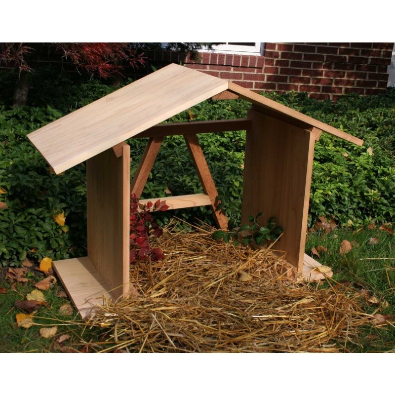 Cedar Manger with Open Back Natural 3'
