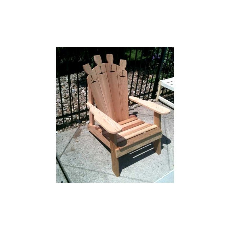 Cedar Wine Glass Adirondack Chair Natural