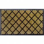 "Dirtbuster Rubber Coir Mat 18"" x 30"" - Lattice NH-18050"