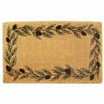 "Heavy Duty Coir Mat with Evergreen Border 22"" x 36"" NH-O2010"